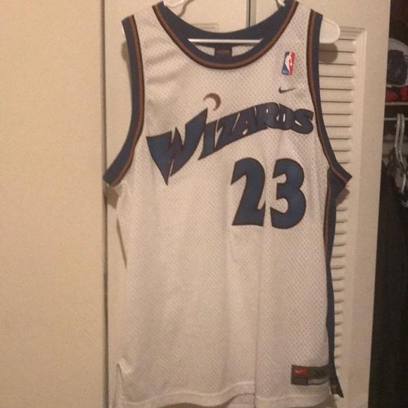 new style f9d29 8d483 Michael Jordan Authentic Wizards Jersey